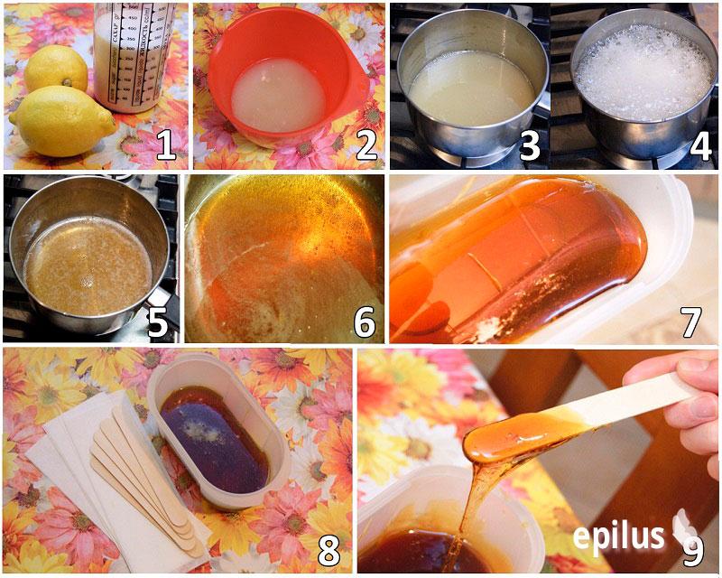 рецепт пасты для шугаринга с лимоном